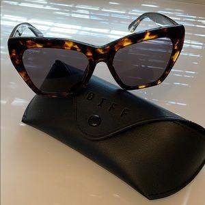 DIFF Wren Tortoise Sunglasses